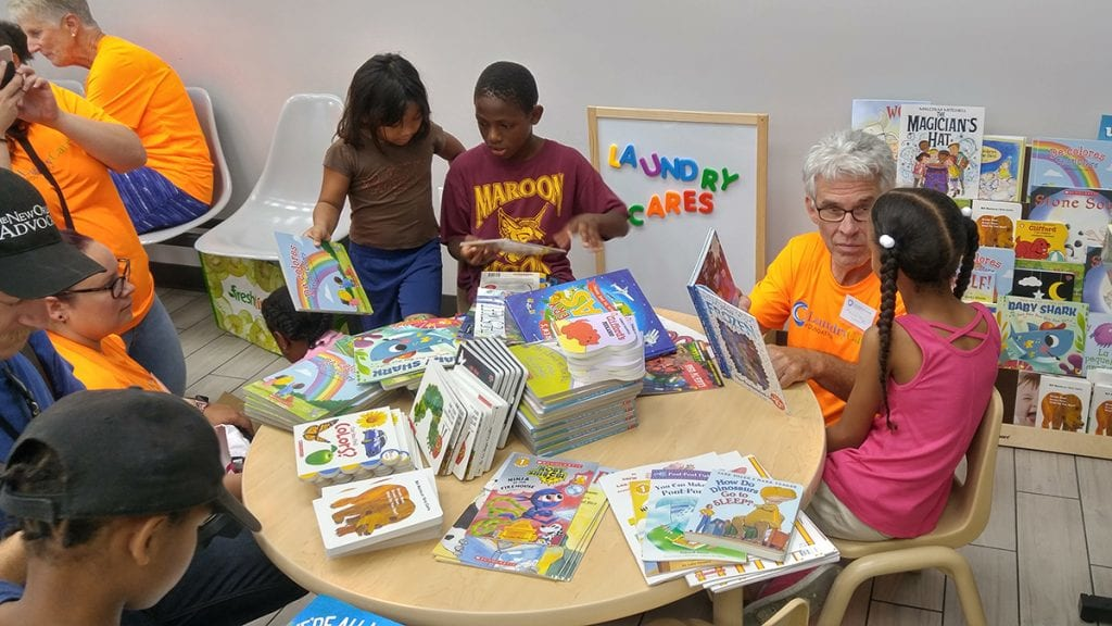 Family Read, Play & Learn Space in New Orleans laundromat