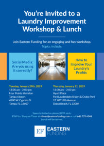 Eastern Funding Laundry Improvement Workshop & Lunch