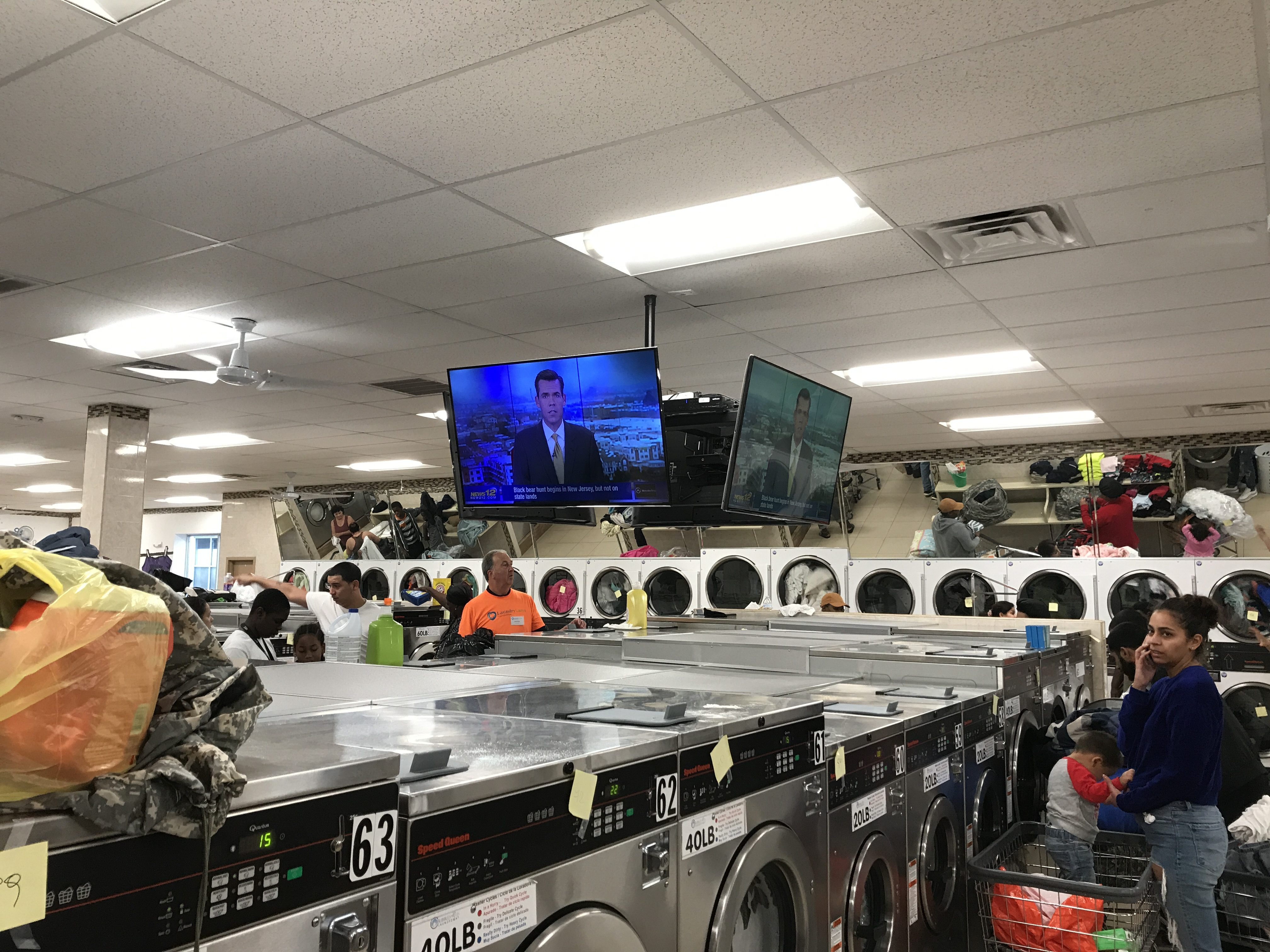 charity event at laundromat